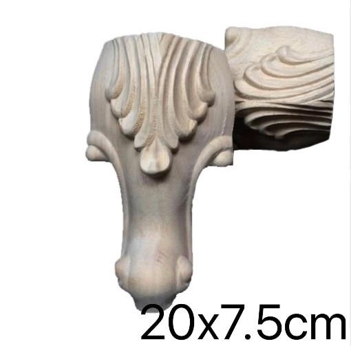 4PCS/LOT  20*7.5CM   European Cabinet Foot Furniture Wood Carved  Legs Bathroom Cabinet Legs