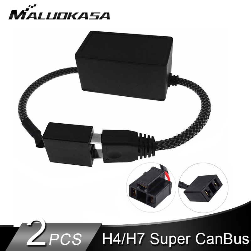 <font><b>LED</b></font> <font><b>H7</b></font> <font><b>Headlight</b></font> Canbus Error Free Decoder for <font><b>H7</b></font> <font><b>LED</b></font> Bulb for <font><b>bmw</b></font> e46/e36/<font><b>e60</b></font> for Audi A3 for Mondeo mk3 Car Light Accessories image