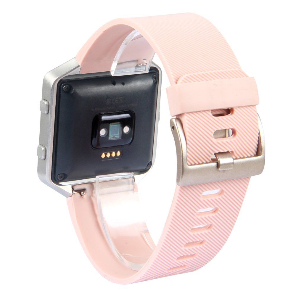 Fitbit Blaze Silicon Band Replacement Strap For Smart Fitness Watch Small Metal Frame