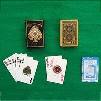 Пластиковый ПВХ покер золотой край баккарат Техасский Холдем игральные карты Новинка коллекция подарок прочный Texas Hold'em Pokers