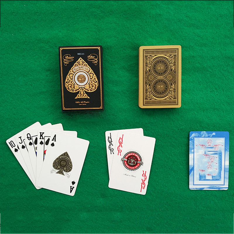 Plastic PVC Poker Gold Edge Baccarat Texas Holdem Playing Cards Novelty Collection Gift Durable Texas Holdem Pokers