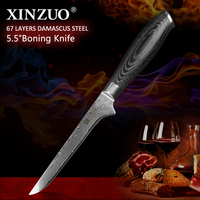 XINZUO 5.5 Bone Filleting Knives 67 layer Damascus Steel Kitchen Knives Damascus VG 10 Japanese Fish Knife Kitchen Chef Tools