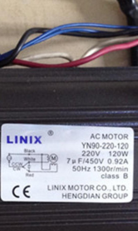 linix motor 90jb50g15 yn90 220 120 new original 5 line adjustable speed  yn90 120 ac adjustable speed reversible gear motor -in dc motor from home