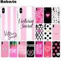 Babaite Розовый VS Фирменная Новинка любовь розовый Новинка чехол для телефона Fundas для iPhone 8 7 6 6 S плюс X XS MAX 5 5S SE XR мобильных телефонов - фото