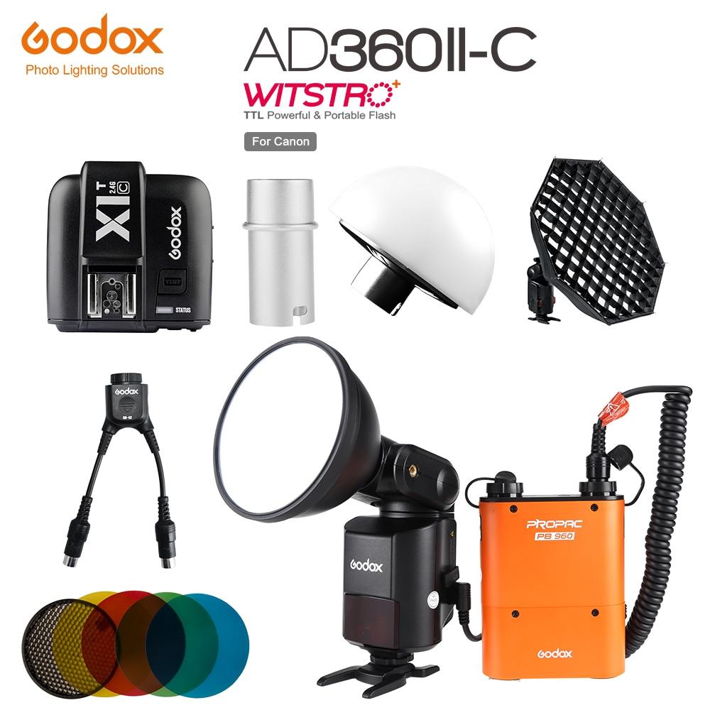 Godox Outdoor Powerful Speedlite Flash AD360II C TTL PB960 Power Pack Orange or Black X1T C