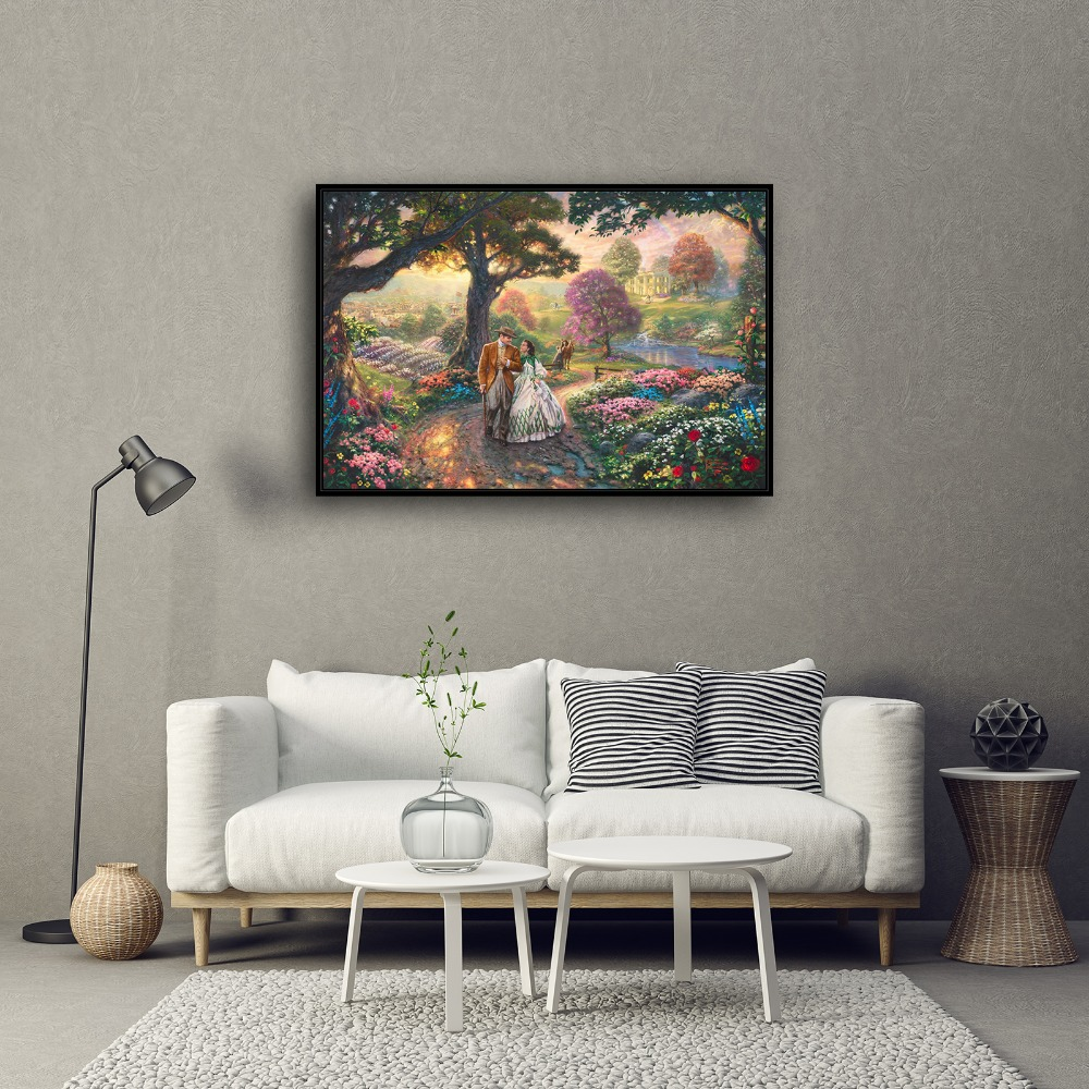 Beau H1167 Thomas Kinkade Gone With The Wind, HD Canvas Print Home Decoration  Living Room Bedroom Wall Pictures Art Painting In Painting U0026 Calligraphy  From Home ...