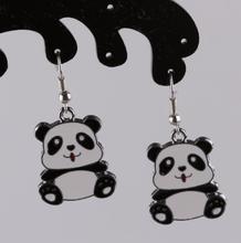 Vintage Design Silver Bijoux Panda Drop Earrings For Women Fashion Jewelry Dangle Earrings Statement Earrings Girls Gift