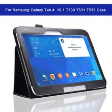 цены на Retro Leather Tablet Cover with Stand Holder for Samsung Galaxy Tab 4 10.1 T530 T531 T535 Case Bracket Smart cover Shockproof  в интернет-магазинах