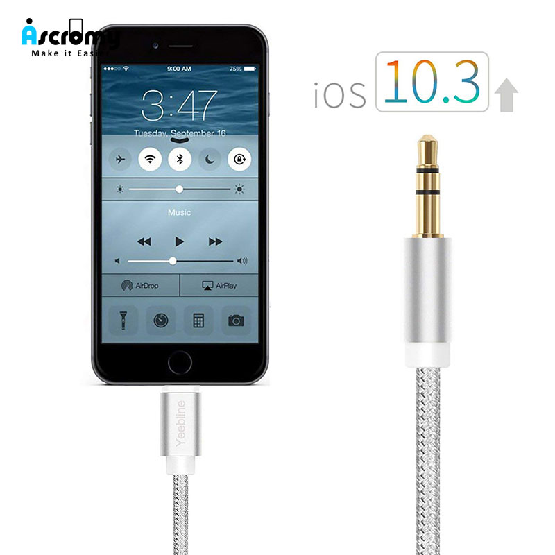 Lbsc 3.5 Mm Stereo Headset Extended Adapter Input Mini-jack Adapter Extender Jack For Apple Iphone 4 4s 5 5s 5c 6 6s Plus Computer Cables & Connectors