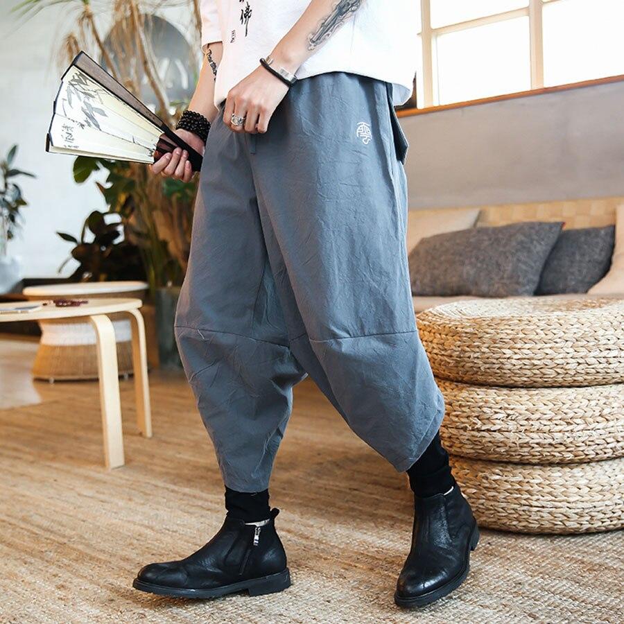 7a19bedc9a0 Lace Loose Harem Pants Men Hip Hop Big Size Baggy Pants Men Casual Fashion  Cotton Aesthetic Pantalon Homme Plus Size Clothing C