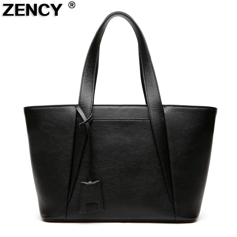 ZENCY 2017 Famous Brand Fashion Genuine Real Leather Women Causal Shoulder Bags Ladies Messenger Hobo Shopping Handbags Satchel zency fashion shopping style handbags women bucket genuine second layer cow leather shoulder messenger cowhide tote bags