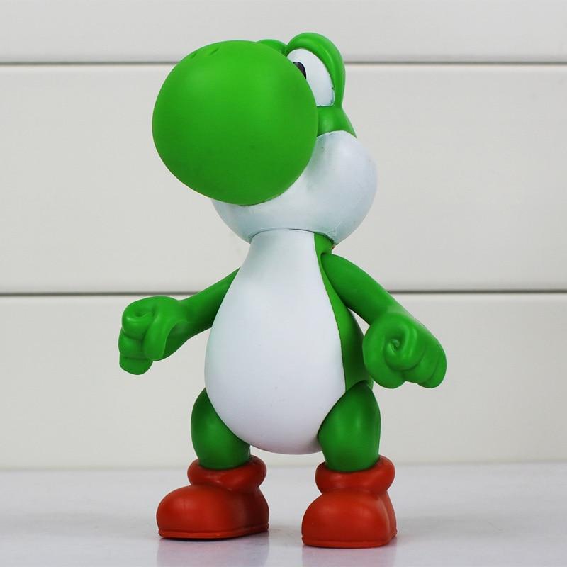5Pcs/Lot Yoshi Dragon Figure Super Mario Bros Koopa Yoshi PVC ...