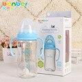 De alta qualidade automático anti flatulência garrafa de boca larga mamadeira com uma alça de 2 sizes bebê garrafas 300 / 160 ML b # t65