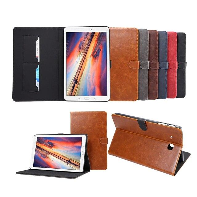 Pull-up de lujo pu funda de piel para samsung galaxy tab e 9.6 t560 t561 negocios tablet tirón smartcover para galaxy tab e 9.6 T560