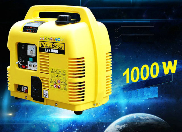 4.2L 1KW small portable single-phase gasoline generator home mute four-stroke generator AC220V / DC12V output