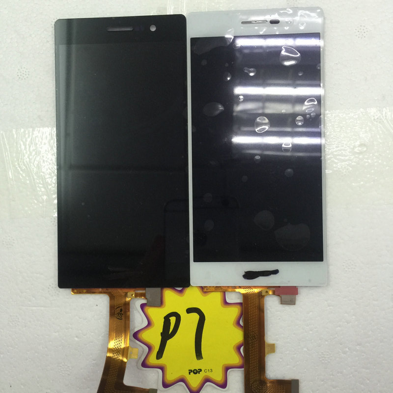 In stock Touch panel+LCD display For Huawei Ascend P7 Quad Core 5.0 Inch Touch screen 2GB RAM 16GB Cell phone-free shipping 5 0 inch lcd for huawei ascend p7 lcd display screen and touch screen panel assembly replacement 1pc lot