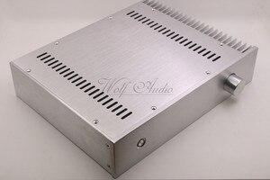 Image 3 - BZ3207C כסף מארז אלומיניום מלא מגבר מארז מיני AMP תיבת חד צדדי רדיאטור מקרה