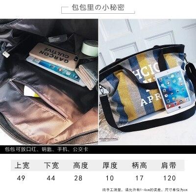 New large-capacity canvas bag simple wild shoulder bag shoulder bag 63