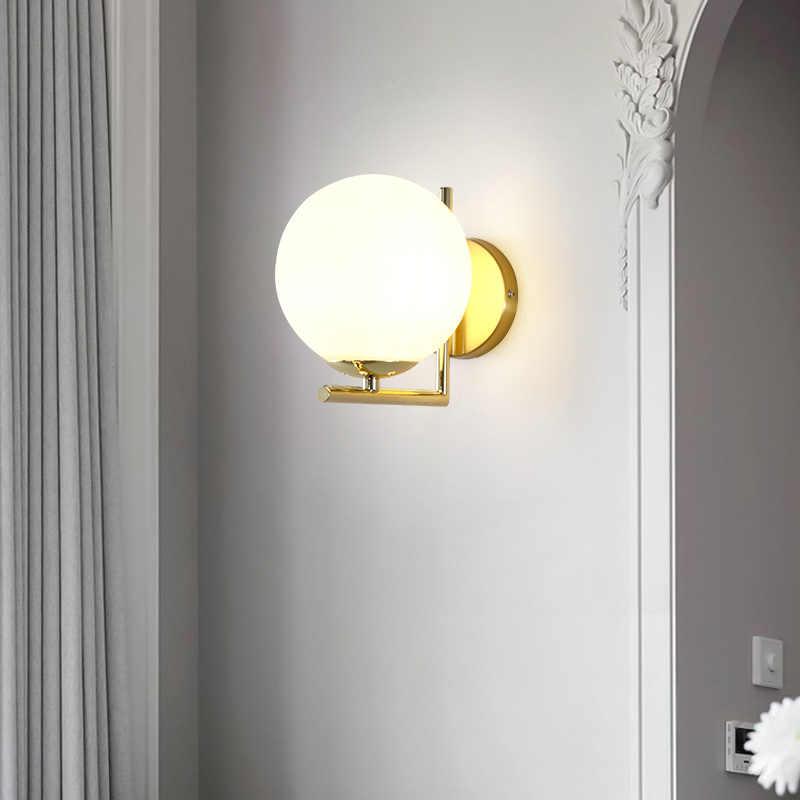 Bắc Âu Hậu Hiện Đại Nhẹ Đơn Giản Cao Cấp Bóng Đèn LED Dán Tường Đầu Giường Phòng Ngủ Sáng Tạo Phòng Phòng Khách Cầu Thang Hành Lang