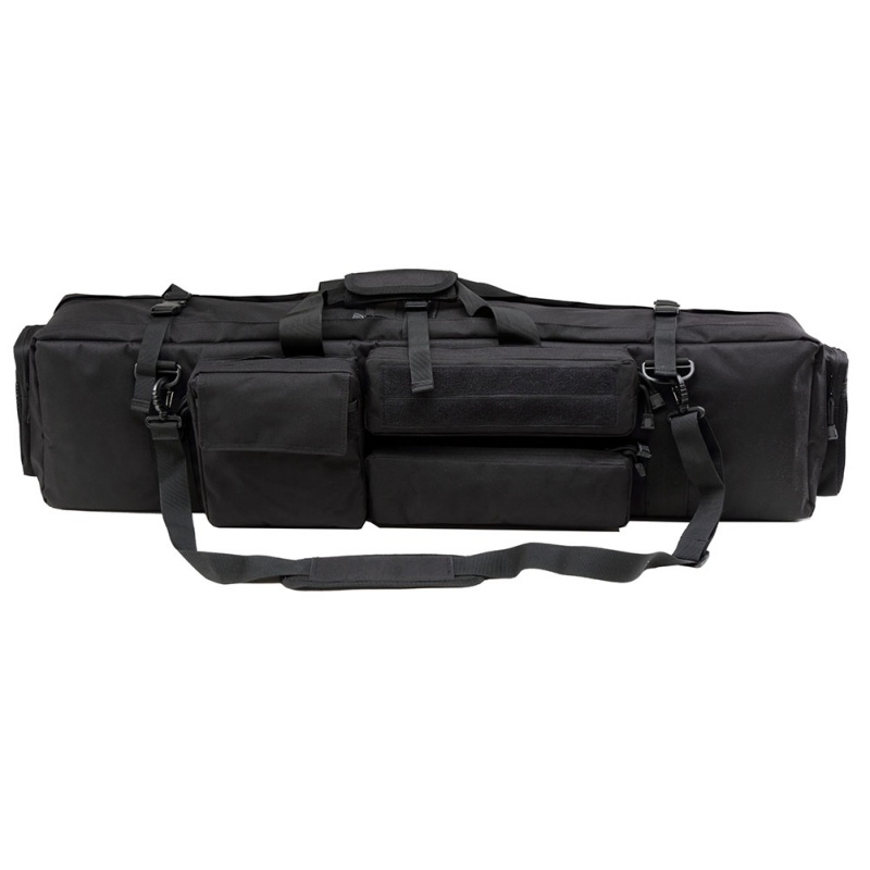 Image 4 - Tactical M249 Gun Bag Airsoft Military Hunting Shooting Rifle Backpack Outdoor Gun Carrying Protection Case With Shoulder Strap-in Holsters from Sports & Entertainment