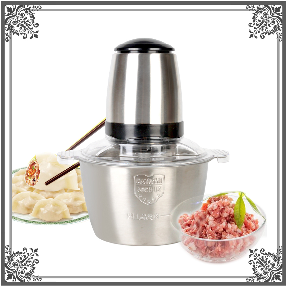Stainless Steel Meat Grinder Chopper Electric Automatic Mincing Machine High-quality Household Grinder Food Processor wavelets processor