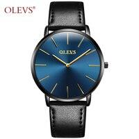2017 OLEVS Brand Men S Fashion Casual Sport Watches Men Waterproof Leather Quartz Man Watch Ultra