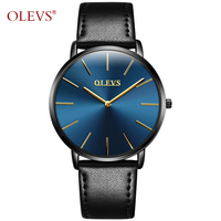 2017 OLEVS Brand Men S Fashion Casual Sport Watches Men Waterproof Leather Quartz Man Watch Ultra