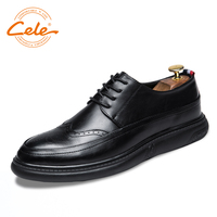 CELE Brand 3 Color Men Casual Shoes Microfiber Carved Leather Bullock Style Footwear Comfortable Fashion Shoes