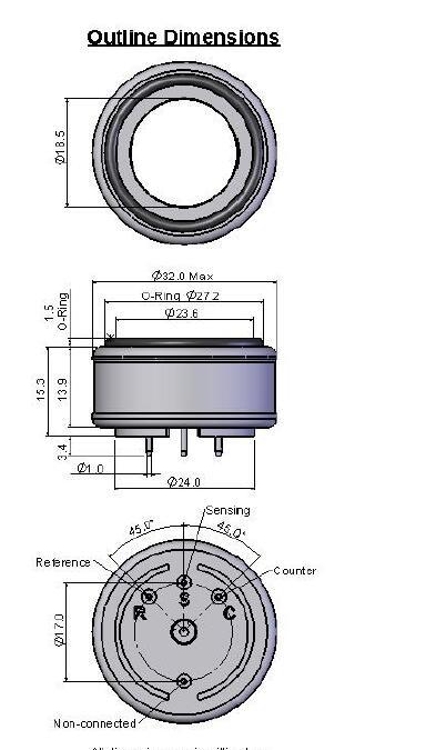 Classic Line 7-CO-1000 Sensor CLE-0013-700