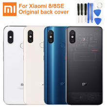 Original XiaoMi Glass Battery Rear Case For Xiaomi 8 MI8 M8 M8SE Phone Backshell Back Cover Cases