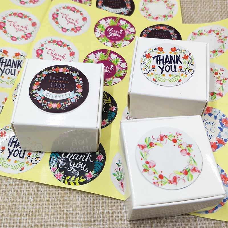100pcs sweet love self adhesive labels Vintage kraft handmade labels paper self seal thank you labels custom cost extra