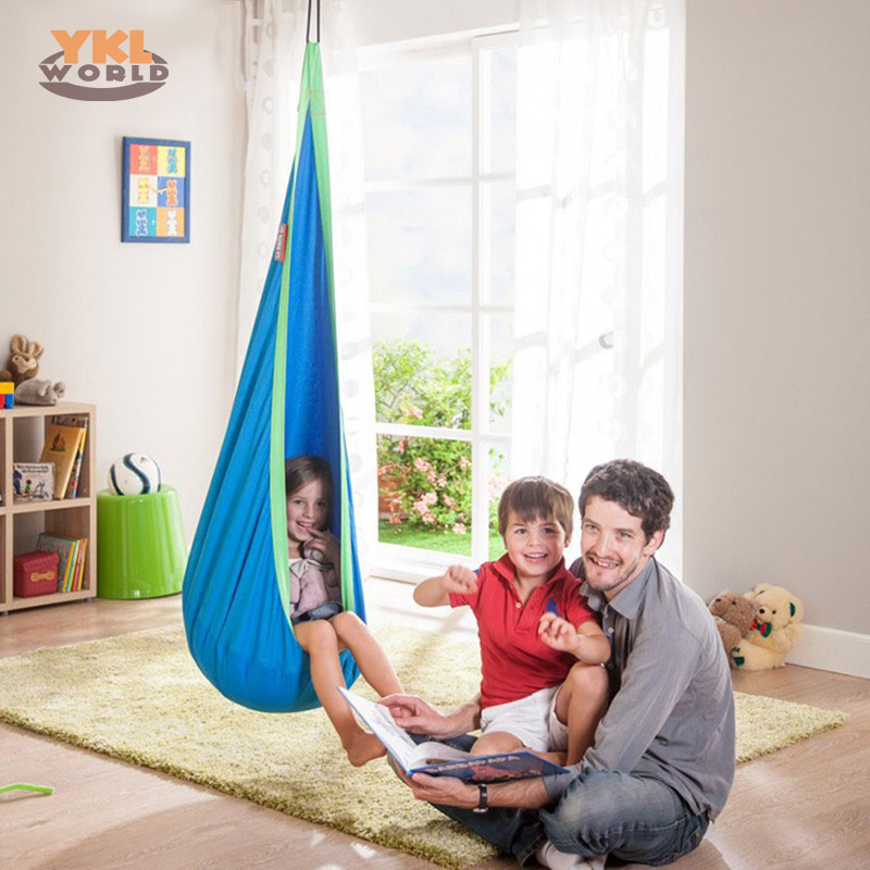 Children Pod Swing Inflatable Chair Nook Nest Hanging Seat Kids Indoor Hammock Outdoor Camping (S8