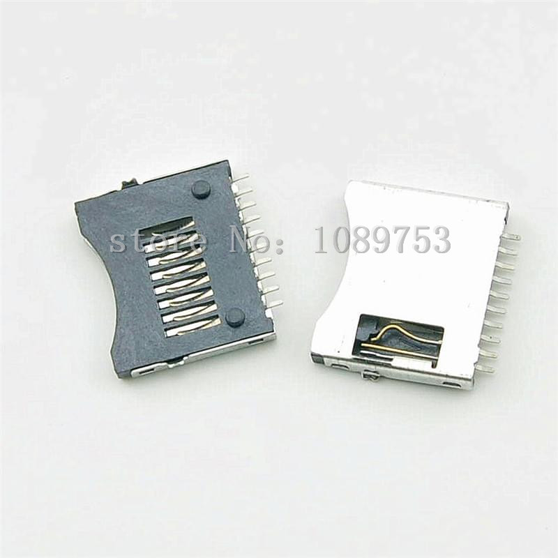 20Pcs Micro SD TF Memory Card Sockets Connectors Slot Holder Plug Adapter DIY