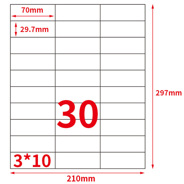 gl 33 50sheets 30 up 1500 labels 70 mm x 29 7 mm on a4 self