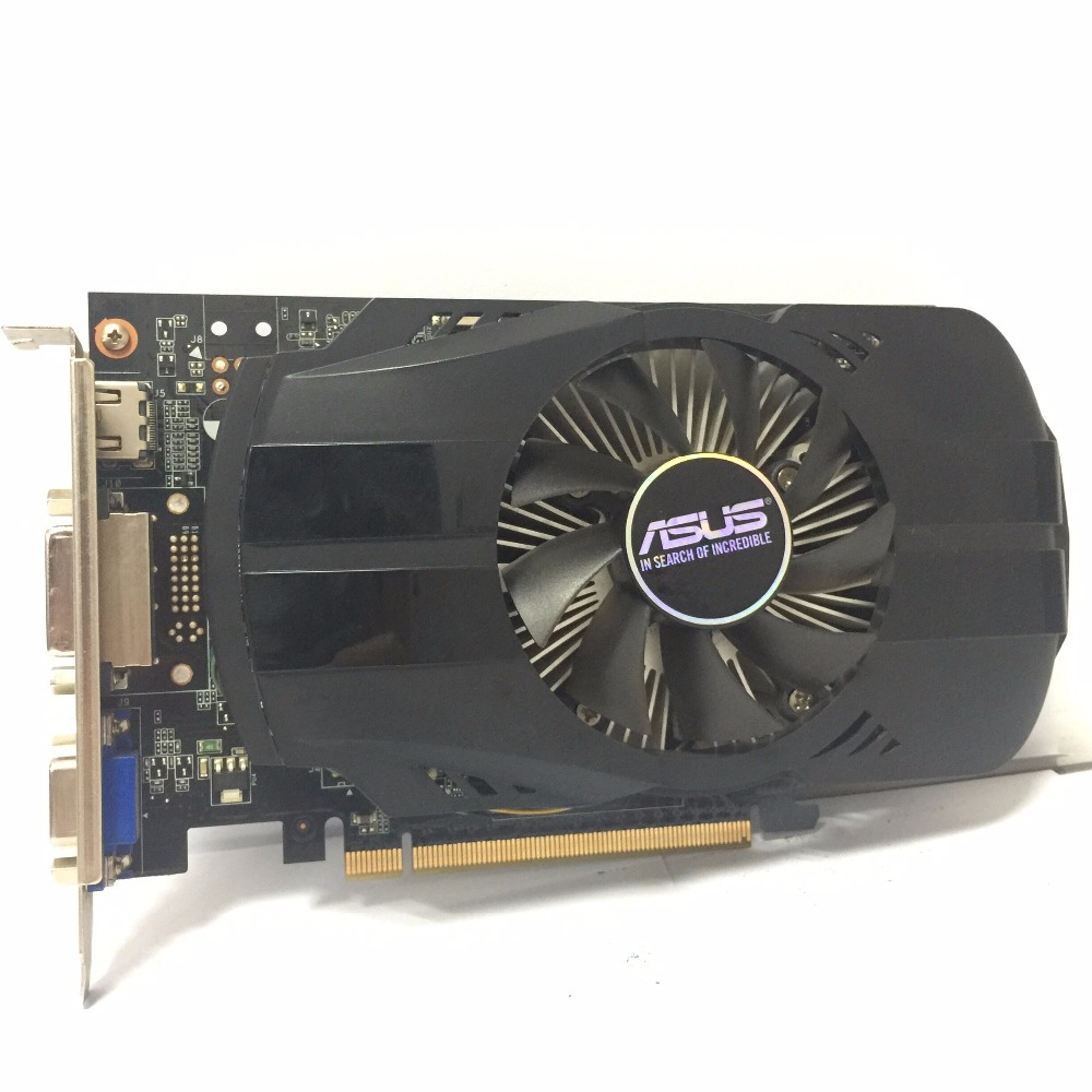 Asus GTX-750TI-OC-2GB GTX750TI GTX 750TI 2G D5 DDR5 128 Bit PC Desktop Graphics Cards PCI Express 3.0 computer GTX 750 video lan baoshi сапфир rx550 2g d5 platinum edition oc 1206mhz 7000mhz 2gb 128bit gddr5 dx12 независимой игровой графики