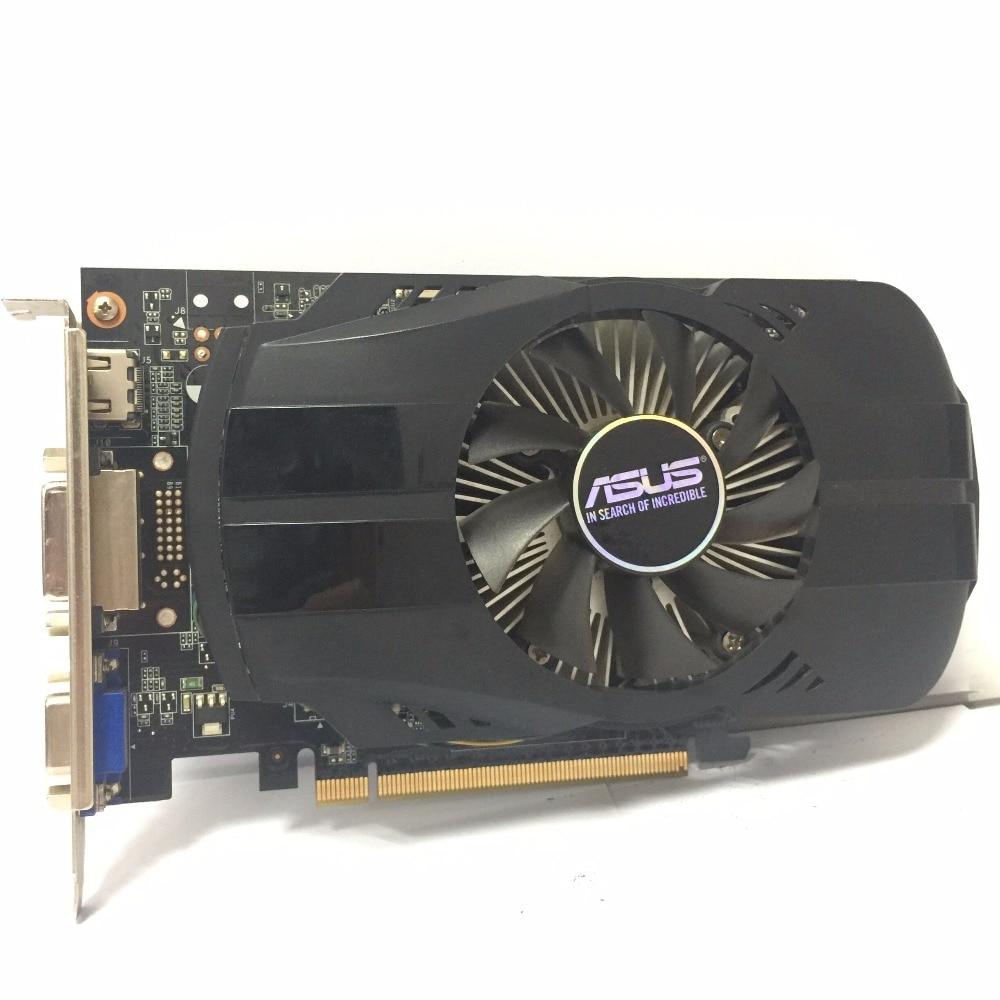 Asus GTX-750TI-OC-2GB GTX750TI GTX 750TI 2G D5 DDR5 128 Bit PC escritorio tarjetas gráficas PCI Express 3,0 ordenador GTX 750 video