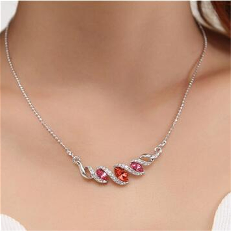 SHDEDE New Sales Hot Necklace Pendant Crystal from Austrian Women Luxury High Quality Necklace -6679