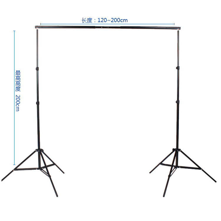 2*2m Professional heavy duty photo background Support System backdrop stand kit supports frame stand carry bag for photo studio ashanks 8 5ft 10ft background stand pro photography video photo backdrop support system for fotografia studio with carrying bag