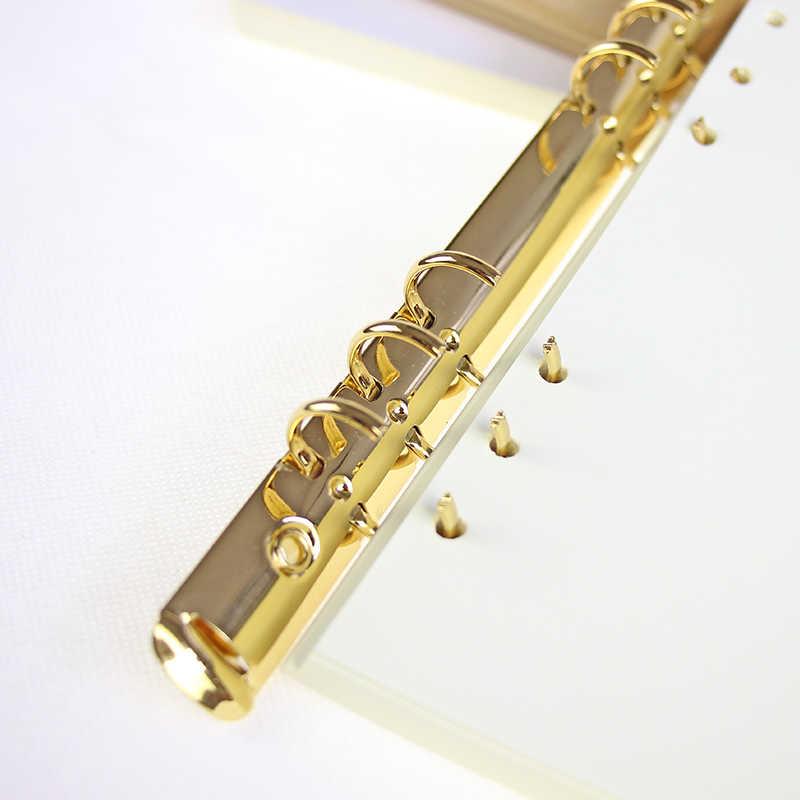 A4 B5 A5 A6 Variopinto del Metallo A Spirale Legante Clip Cartella Archivio loose-leaf In Acciaio Inox Legante Diario Pinze Anello Vincolante ferro Oro