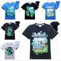Venta al por menor 6-14 años Los Niños de Dibujos Animados camiseta de algodón Camiseta de Los Muchachos camisetas Niños Ropa de Verano Ropa de Los Niños