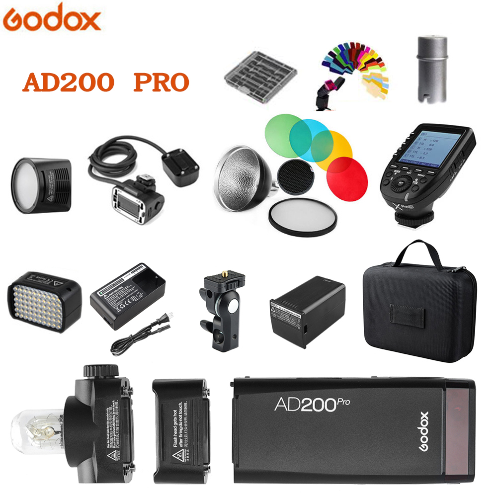 Godox AD200pro 200Ws Outdoor Flash Light AD200 PRO Pocket Flash Light for Sony Nikon Canon Fuji TTL HSS 2.4G Wireless X system-in Flashes from Consumer Electronics    1