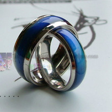 Changing Color Fashion Adjustable Mood Ring Wedding Rings For Men and Women Silver creative hobby for children & couple rings