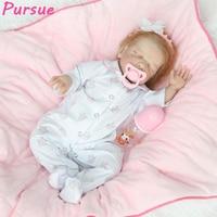 Преследовать розовые детские Куклы силиконовые возрождается Куклы новорожденных BABY ALIVE куклы baby born интерактивное Reborn Игрушечные лошадки 22