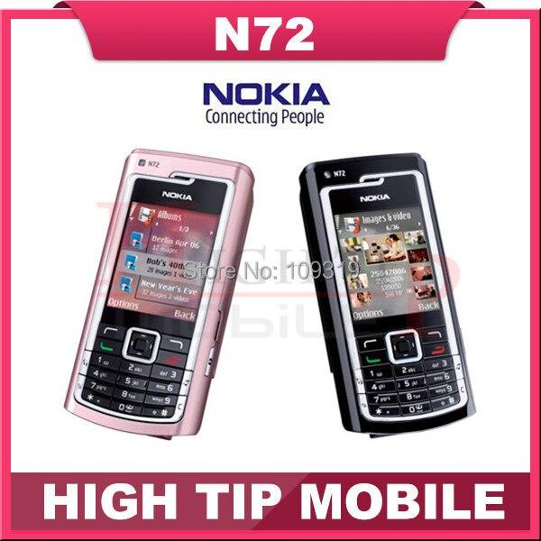 Nokia N72, отремонтированный мобильных телефонов fm-радио 2 MPBluetooth ява