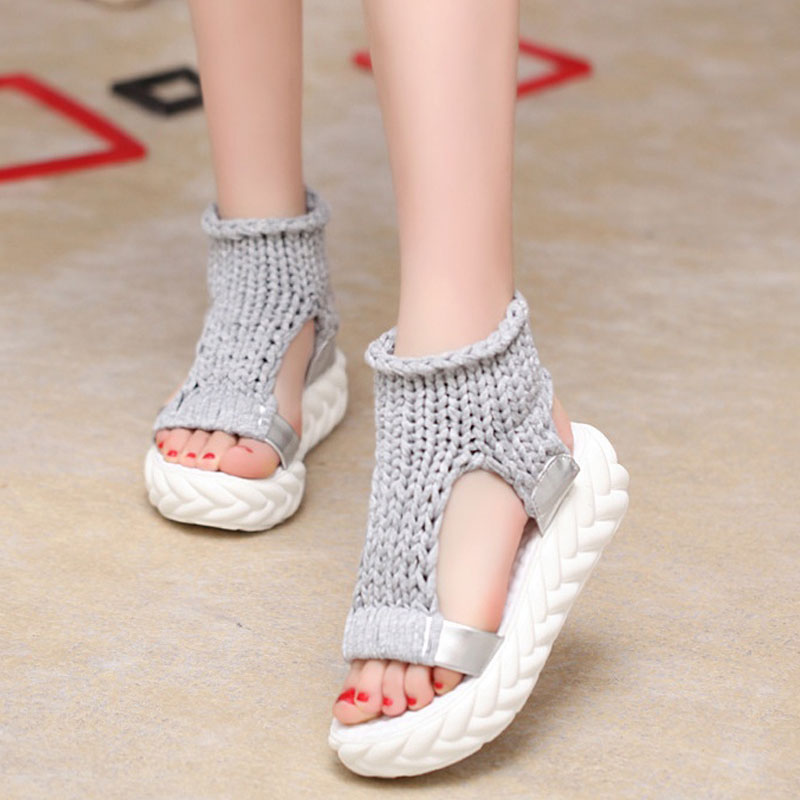 Leisure Platform Summer Women Sandals Soft Bohemia Gladiator Beach Sandals Female Flip Flops Ladies Footwear Women Shoes DC03 women sandals 2017 summer shoes woman flips flops wedges fashion gladiator fringe platform female slides ladies casual shoes