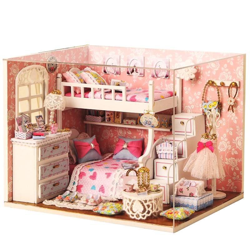 Kézzel készített Doll House bútorok Miniatura Diy Doll házak - Babák és kiegészítők