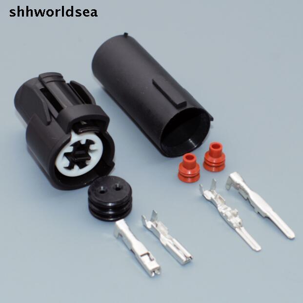 Shhworldsea 2,0mm 2pin 2way männlich-weibliche Ansaugluft Temperatur Stecker Zopf Sensor Integra Für Honda Civic 6189-015