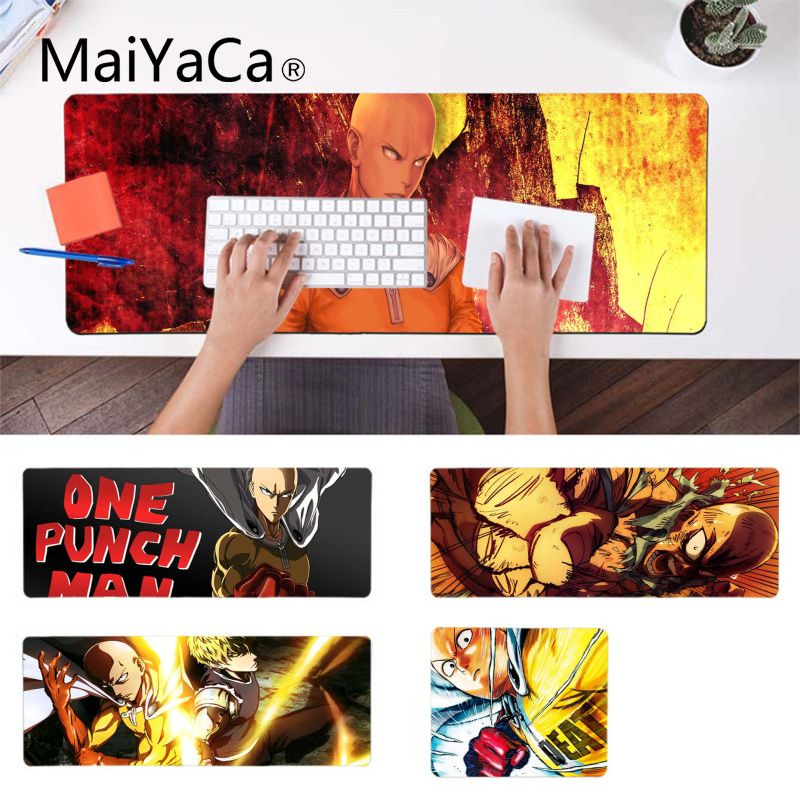 MaiYaCa Personalized Cool Fashion One Punch Man  Customized laptop Gaming mouse pad Rubber Mouse Durable Desktop Mousepad