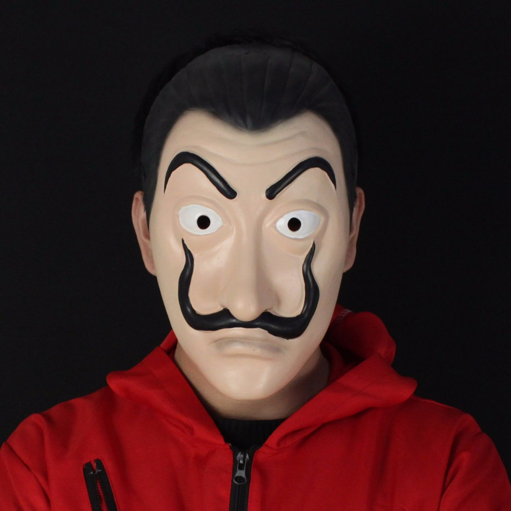 la casa de papel salvador dali mask cosplay salvador dali clown face masks halloween party props
