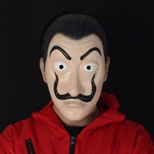 La Casa de Papel Máscara de Salvador Dalí Cosplay Salvador Dalí Máscaras de cara de payaso